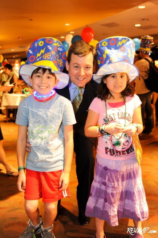 Chief White House correspondent Ed Henry with his two children; Mila Henry and Patrick Henry
